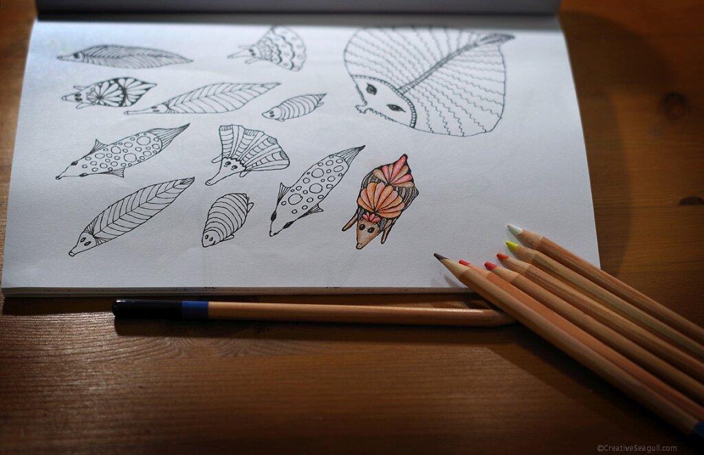 Colouring in progress