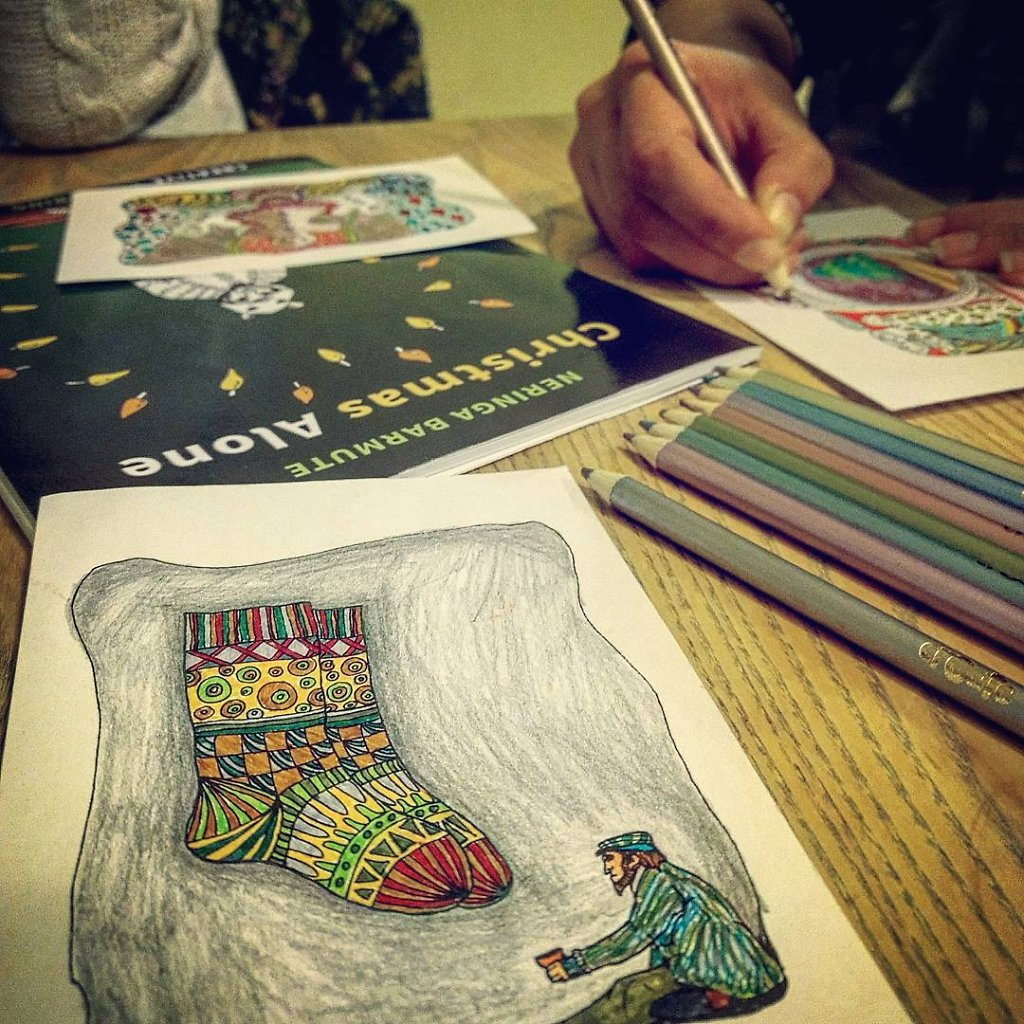 Christmas Alone: Creative Colouring Book