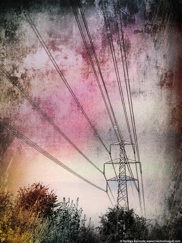Energy pylon in Didcot #1