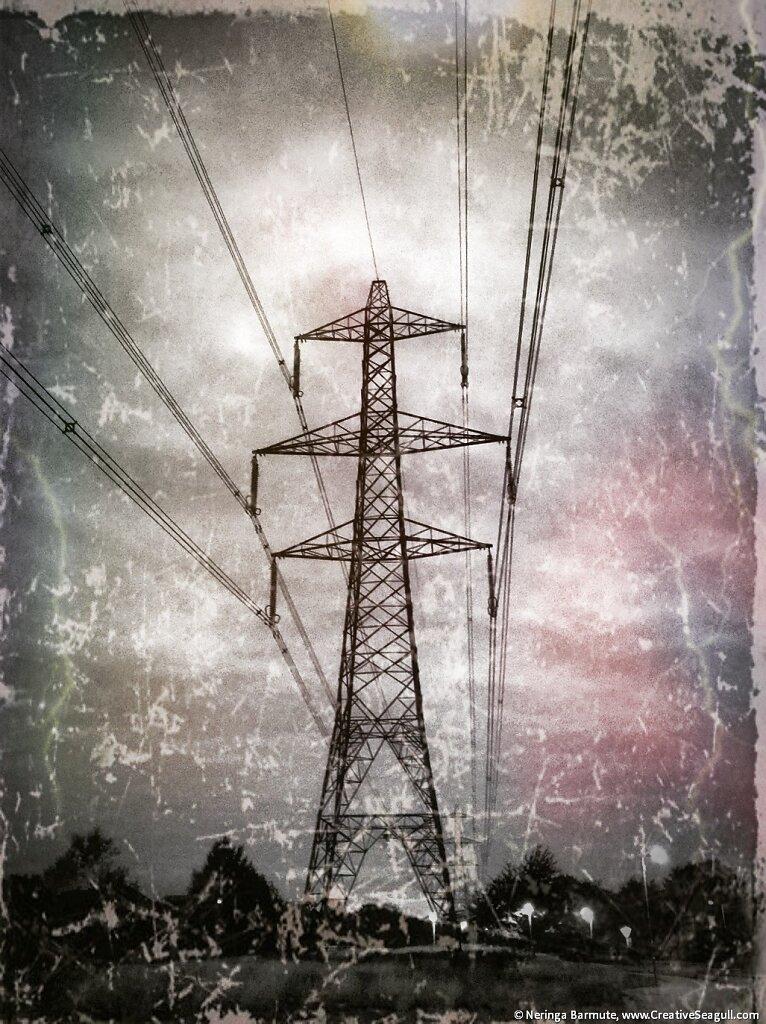 Energy pylon in Didcot #2