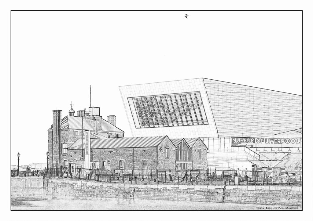 Liverpool greyscale coloring page